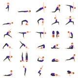 A mulher que faz a ioga levanta a ilustração Foto de Stock