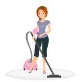 Mulher que faz o housework Fotografia de Stock Royalty Free