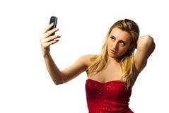 Mulher que faz o selfie Fotos de Stock Royalty Free
