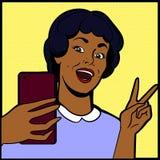 Mulher que faz o selfie Imagem de Stock