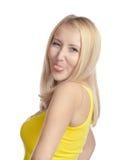 Mulher que faz uma face engraçada Imagens de Stock Royalty Free