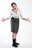 Mulher que grita Foto de Stock Royalty Free