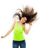 Mulher que lança seu cabelo Imagens de Stock