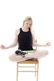 Mulher que meditating Imagem de Stock Royalty Free