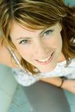 Mulher que olha acima Fotos de Stock Royalty Free