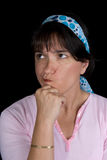 Mulher que pondering a vida Imagens de Stock