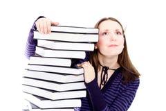 Mulher que preperaing para o exame Imagem de Stock