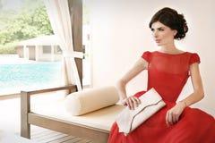 Mulher que relaxa… Imagem de Stock Royalty Free