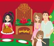 Mulher que serve sua família um peru Fotos de Stock Royalty Free