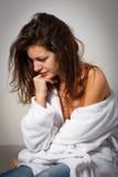 Mulher que sofre da depressão Fotos de Stock Royalty Free