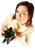 Mulher que tem problemas financeiros Fotografia de Stock Royalty Free