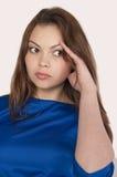 Mulher que tenta recordar algo Foto de Stock Royalty Free