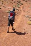 Mulher que trekking nos EUA Imagens de Stock Royalty Free