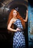 Mulher Redheaded imagens de stock royalty free