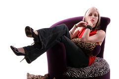 Mulher relaxada Imagem de Stock Royalty Free