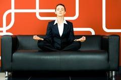 A mulher relaxou Foto de Stock