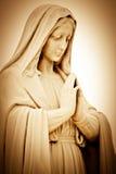Mulher religiosa de sofrimento que praying Fotografia de Stock