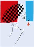 Mulher retro da arte de PNF Fotos de Stock Royalty Free