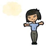 mulher retro do asiático dos desenhos animados Fotos de Stock Royalty Free