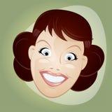 Mulher retro dos desenhos animados Fotografia de Stock