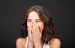 Mulher, rindo Fotos de Stock