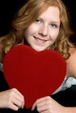 Mulher romântica Fotos de Stock Royalty Free
