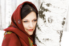 Mulher russian lindo fotografia de stock royalty free
