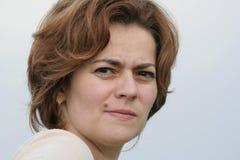 Mulher séria Fotos de Stock