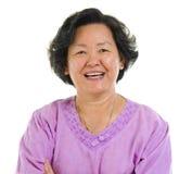 Mulher sênior asiática Fotos de Stock Royalty Free