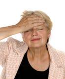 Mulher sênior com algum problema Foto de Stock Royalty Free