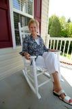 Mulher sênior em casa   Imagem de Stock
