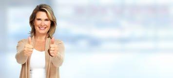 Mulher sênior feliz fotografia de stock