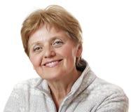 Mulher sênior feliz - sessenta anos velho fotografia de stock royalty free