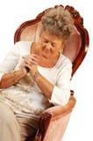 Mulher sênior que praying. Foto de Stock Royalty Free