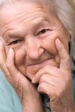 Mulher sênior satisfeita fotos de stock royalty free