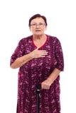 Mulher sênior surpreendida foto de stock royalty free