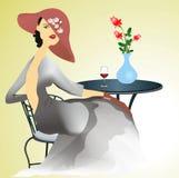 Mulher só, Imagens de Stock