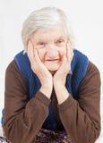 Mulher só idosa Imagem de Stock Royalty Free