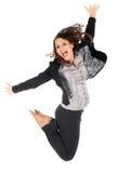 A mulher salta fotos de stock royalty free