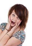 Mulher Scared fotos de stock