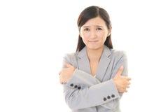Mulher scared Imagem de Stock