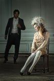A mulher seduz seu marido Imagens de Stock Royalty Free
