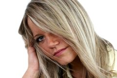 Mulher sensível Imagens de Stock Royalty Free