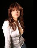 Mulher sensual com cabelo longo imagens de stock royalty free