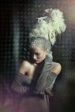 Mulher sensual na neve. Foto de Stock