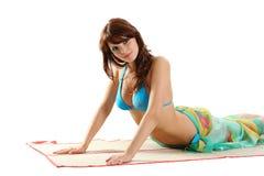 Mulher 'sexy' atrativa Foto de Stock Royalty Free