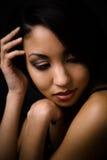 Mulher 'sexy' bonita do americano africano Imagens de Stock