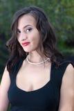 Mulher 'sexy' bonita na natureza fotografia de stock royalty free