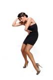 Mulher 'sexy' bonita no vestido elegante curto fotos de stock royalty free