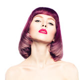 Mulher 'sexy' com forma Bob Hairstyle Imagens de Stock Royalty Free